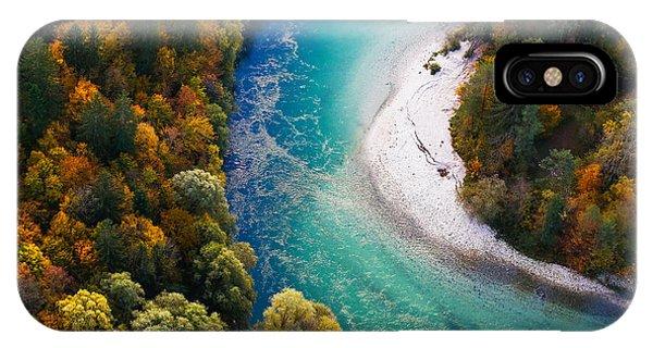 River Flow iPhone Case - Pristine Alpine Turquoise River by Zlikovec