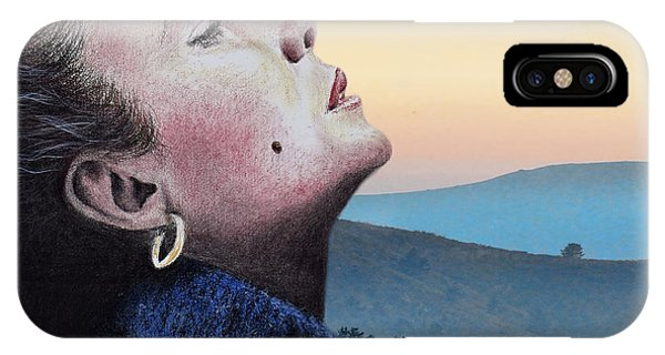 Leading Actress iPhone Case - Profile Portrait Of Liz Taylor At Sunset by Jim Fitzpatrick