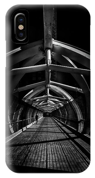 IPhone Case featuring the photograph Puente De Luz Pedestrian Bridge Toronto Canada No 1 by Brian Carson