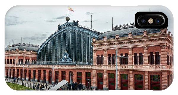 Puerta De Atocha Railway Station IPhone Case