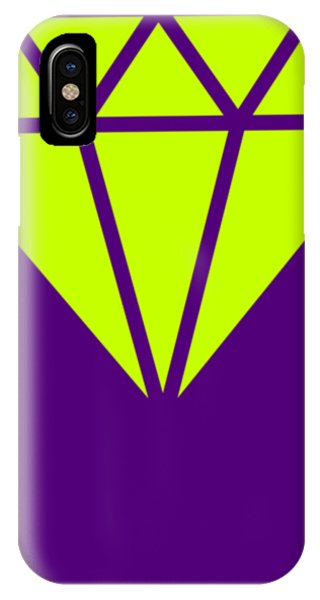 iPhone Case - Purple Diamond Yellow by Ize Barbosa DIAMOND IS FOREVER