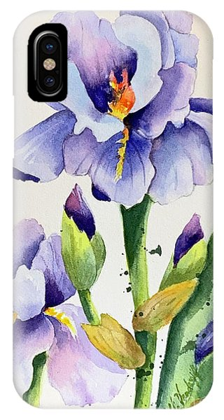 Purple Iris And Buds IPhone Case