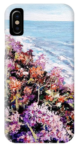 IPhone Case featuring the painting Purple Landscape by Ray Khalife