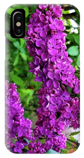IPhone Case featuring the photograph Purple Lilac Parade by Deahn      Benware