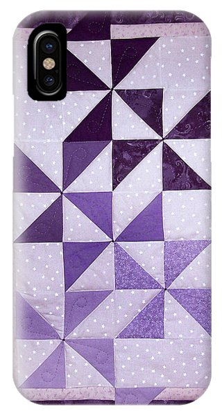 Purple Pinwheels Pirouetting IPhone Case