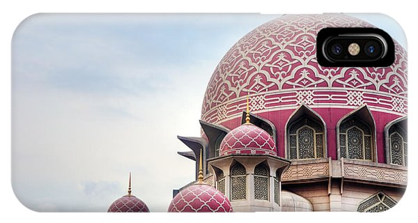 Dome iPhone Case - Putra Mosque Is The Principal Mosque Of by Szefei