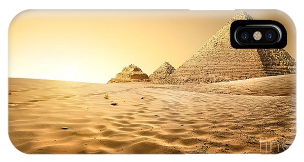 Clear iPhone Case - Pyramids In Sand by Givaga