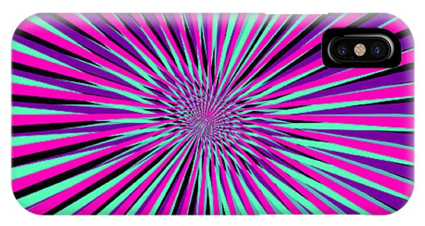 Illusion iPhone Case - Pyschedelic Pink & Purple Art by Christiana Mustion