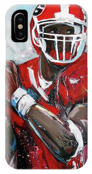 IPhone Case featuring the painting Quarterback by John Jr Gholson