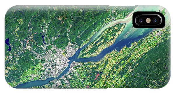 Quebec City iPhone Case - Quebec City From Space by Delphimages Photo Creations