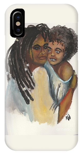 IPhone Case featuring the painting Queen Love by Saundra Johnson