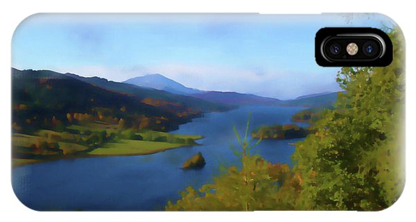 Queens View Painting IPhone Case