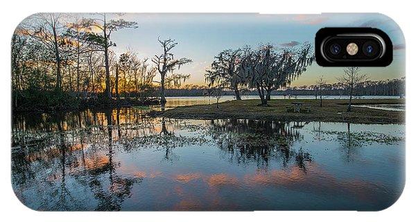 Quiet River Sunset IPhone Case