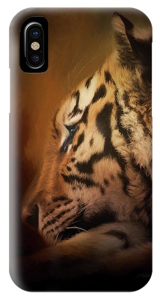 IPhone Case featuring the painting Quiet Time - Wildlife Art by Jordan Blackstone