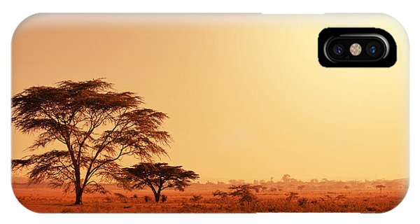 Red Rock iPhone X Case - Quiver Tree In Namibia, Africa by Galyna Andrushko