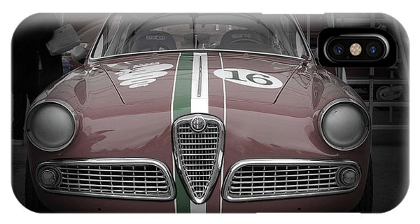 Monterey iPhone Case - Racing Alfa Romeo by Naxart Studio