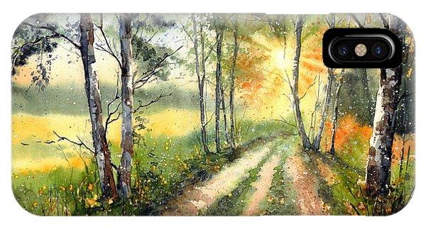 Teton iPhone Case - Radiant Sun On The Autumn Sky by Suzann's Art
