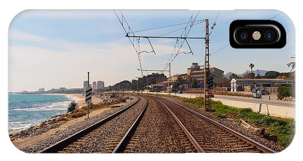 Iron iPhone Case - Railway To The Coast Of The by Pere Rubi