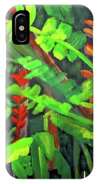 IPhone Case featuring the painting Rain Forest Memories by Linda Feinberg
