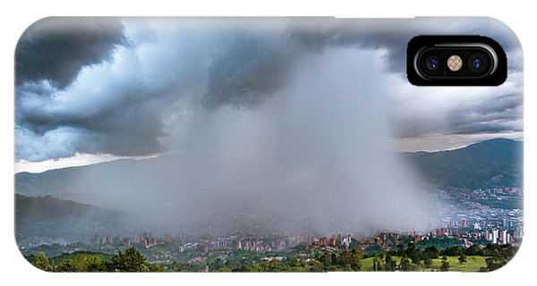 IPhone Case featuring the photograph Rain Storm Over Medellin by Francisco Gomez