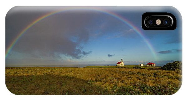 Rainbow At Point Cabrillo IPhone Case