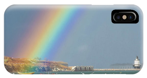 Rainbow At Spring Point Ledge IPhone Case