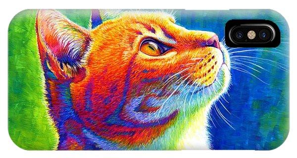 Rainbow Cat Portrait IPhone Case
