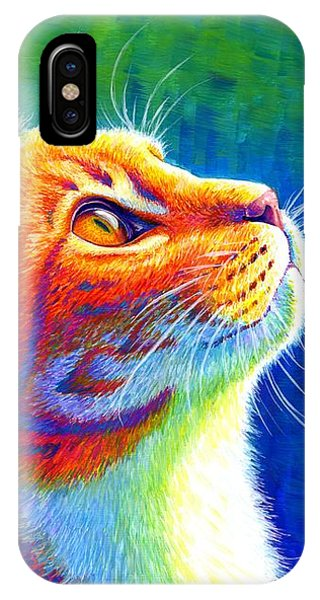 Rainbow Cat Portrait IPhone Case