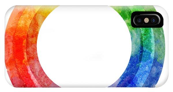Rainbow Color Wheel IPhone Case