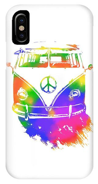 Rainbow Colored Peace Bus IPhone Case