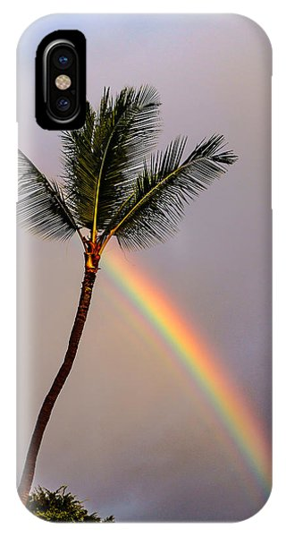 Rainbow Just Before Sunset IPhone Case
