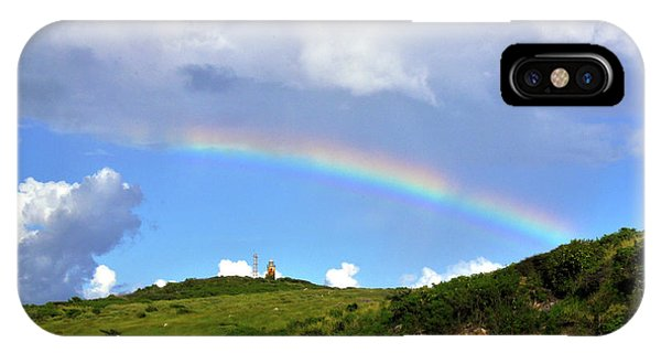 Rainbow Over Buck Island Lighthouse IPhone Case