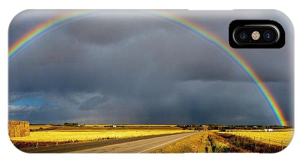 Rainbow Over Crop Land IPhone Case