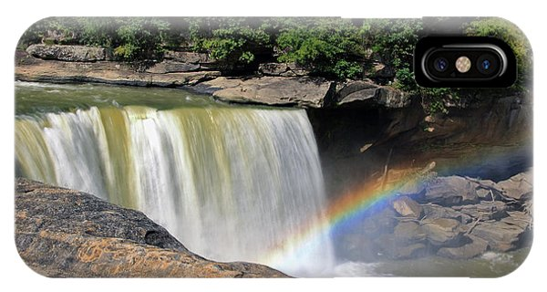 IPhone Case featuring the photograph Rainbow Over Cumberland Falls by Angela Murdock