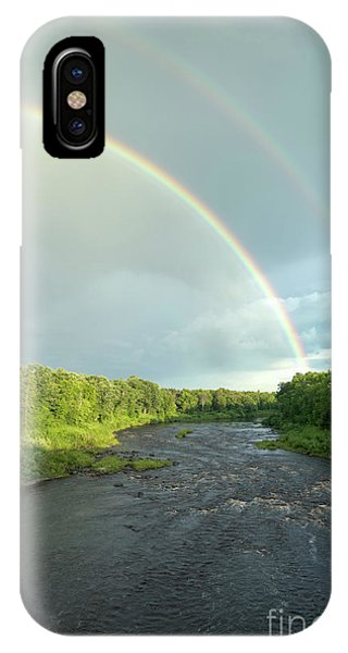 Rainbow Over The Littlefork River IPhone Case
