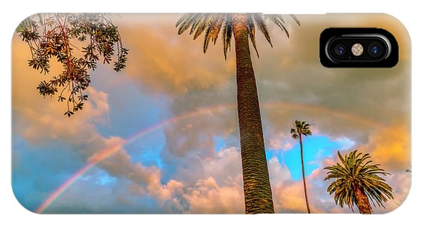Rainbow Over The Palms IPhone Case
