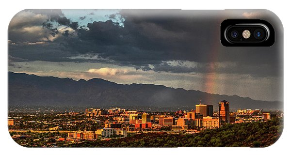 Rainbow Over Tucson IPhone Case