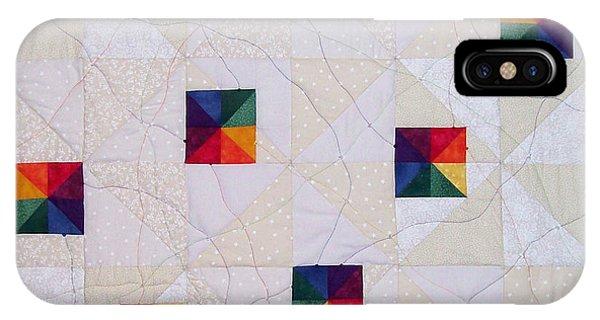 Rainbow Pinwheel IPhone Case