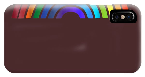 Stripe iPhone X Case - Rainbow T-shirt Simple Style Basic Glossy Stripe Design by Unique Tees