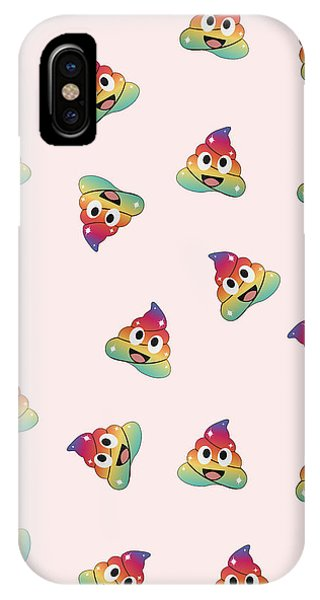 Toilet Humor iPhone Case - Rainbow Unicorn Poop. Magical Fairy Pile Of Poop by Shawlin