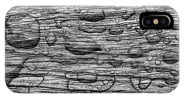 iPhone Case - Raindrops On Wood, California, Usa by Panoramic Images