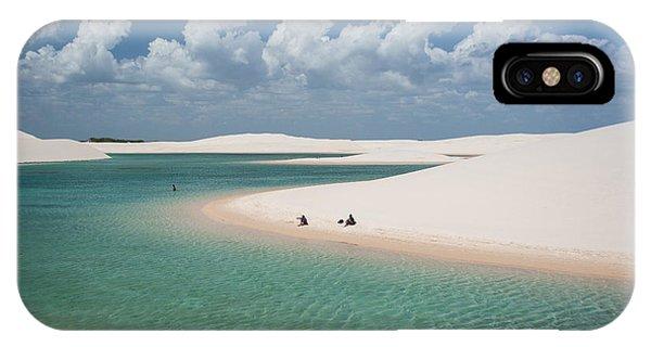 South America iPhone Case - Rainwater Lagoon And Sand Dunes In by Vitormarigo