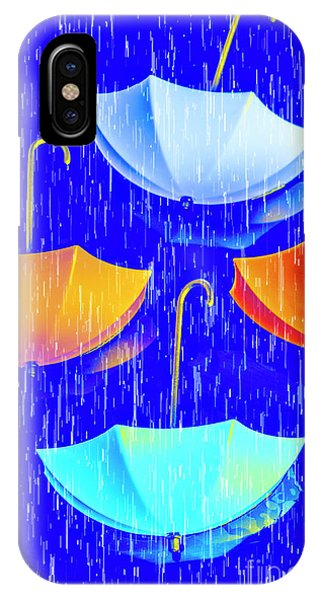 Parasol iPhone Case - Rainy Day Parade by Jorgo Photography - Wall Art Gallery