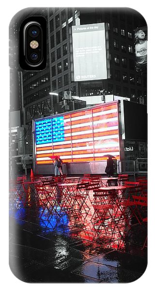 IPhone Case featuring the photograph Rainy Days In Time Square  by Geraldine Gracia