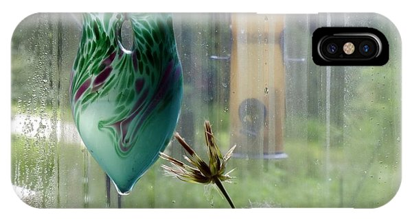 Rainy Morning At The Bird Feeder IPhone Case