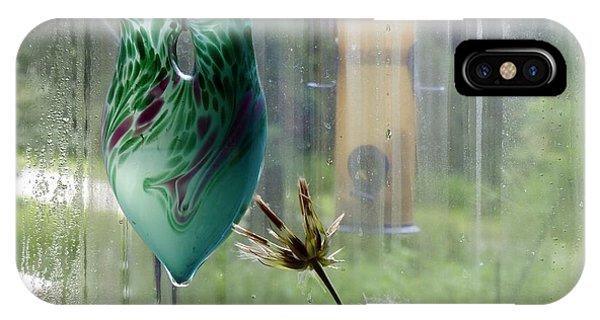 Rainy Morning At The Bird Feeder IPhone Case