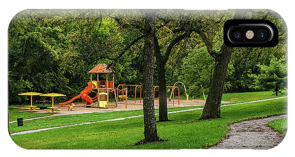 IPhone Case featuring the photograph Rainy Playground by Edward Peterson