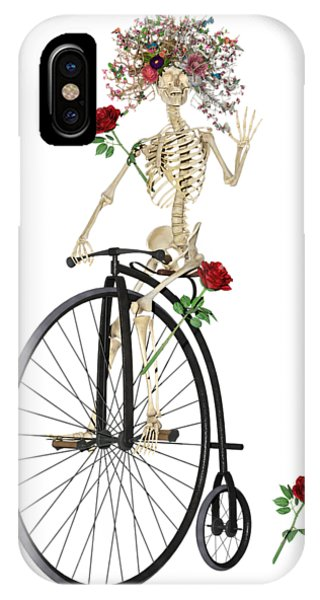Human Interest iPhone Case - Rambling Rosy Penny Farthing by Betsy Knapp