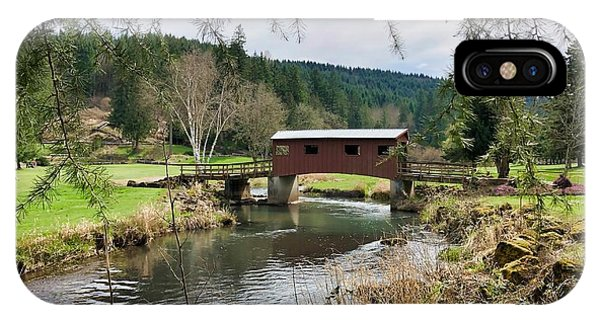 Ranch Hills Covered Bridge IPhone Case