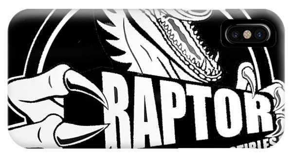 Raptor Comics Black IPhone Case